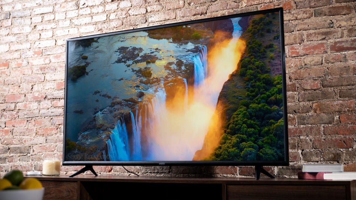The Vizio V-Series displaying 4K content in a living room setting