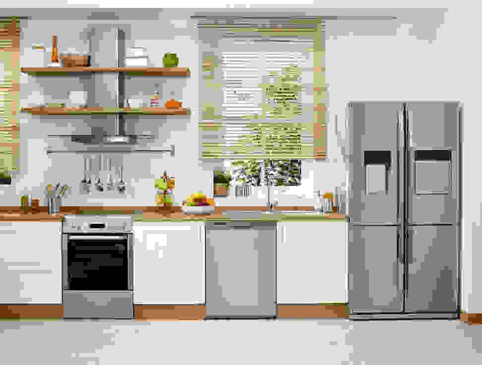 Kitchen with luxury appliances