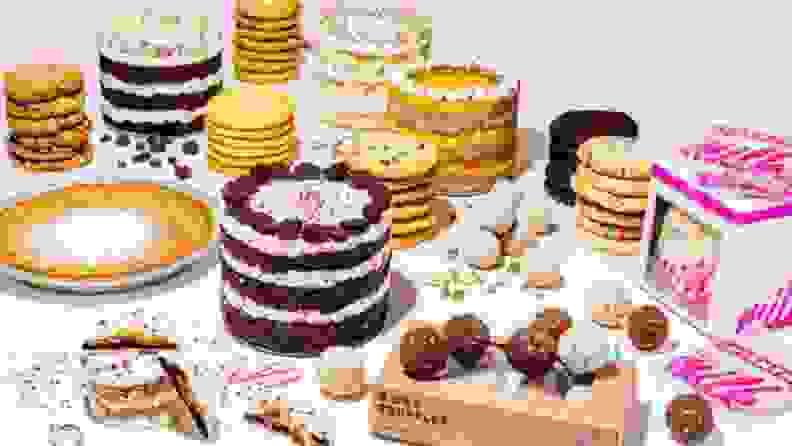 An array of baked goods