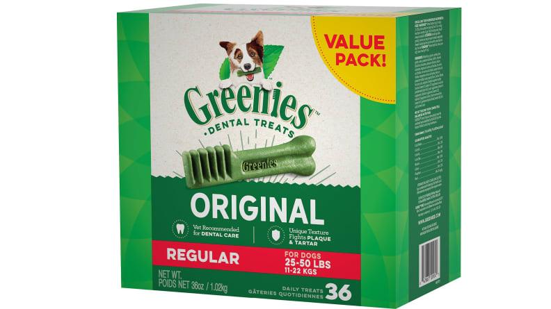 Greenies Regular Dental Dog Treats, 36 count
