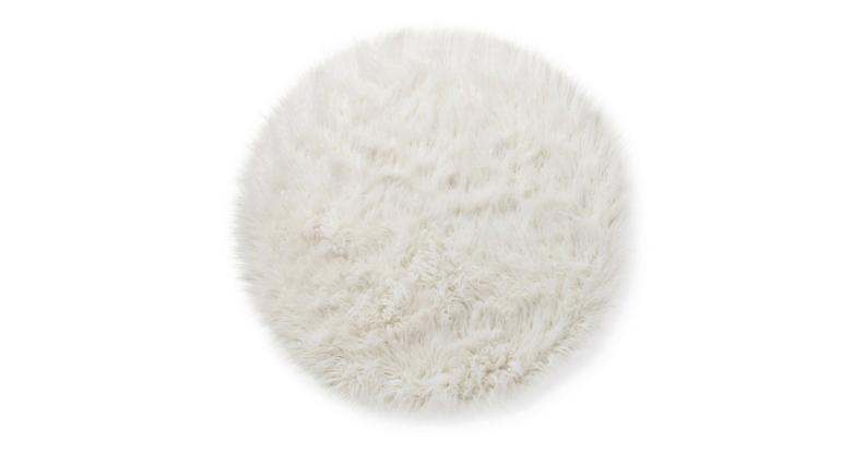 White furry rug