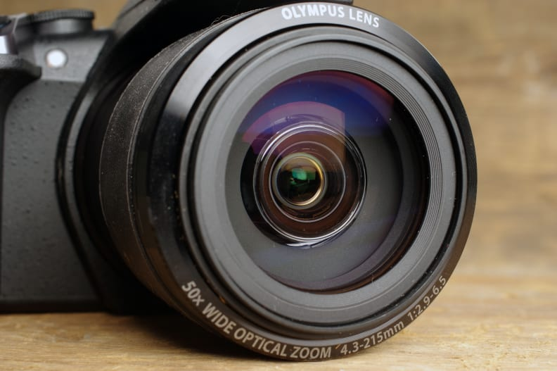 The 50x zoom lens has an aperture range of f/2.9-6.5.