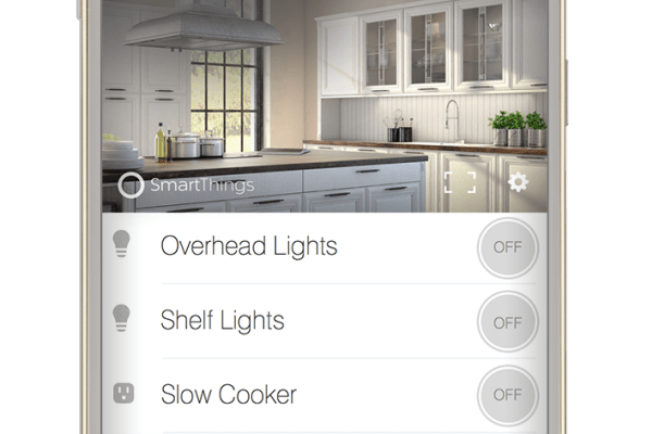 A SmartThings room screen