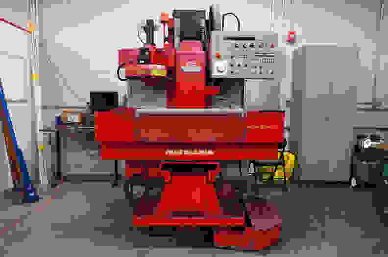 A large milling machine.