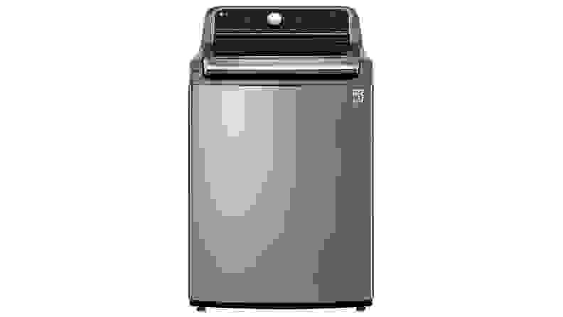 The LG WT7305CV top-load washing machine on a white background.