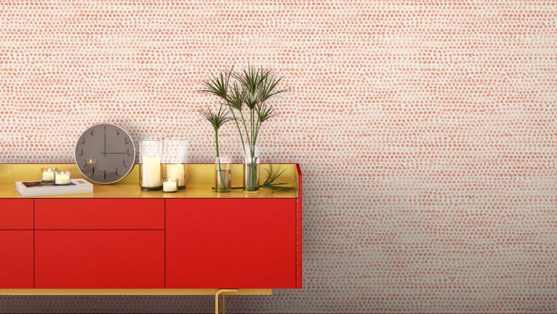 Tempaper-Moire-Dots-in-coral