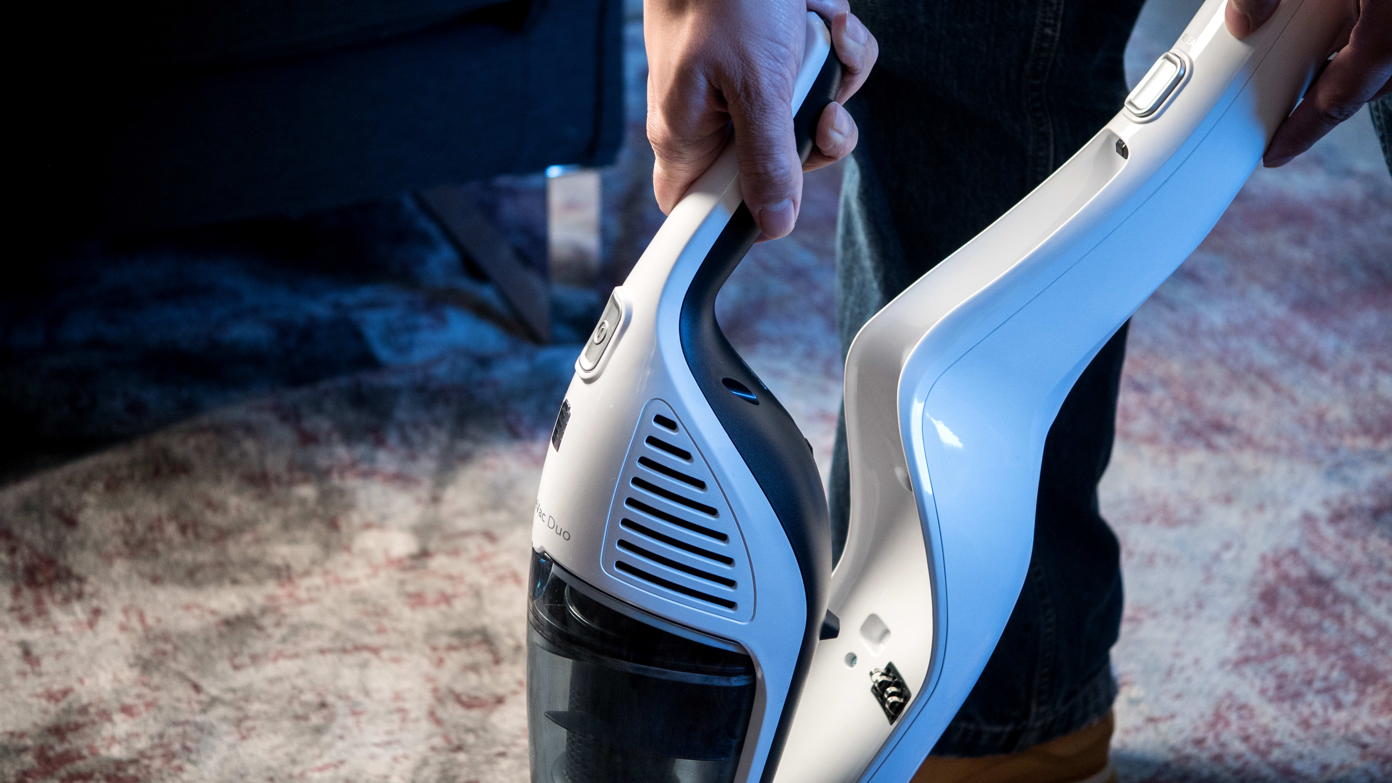 Being a 2-in-1, the HomeVac Duo contains a built-in hand vac.