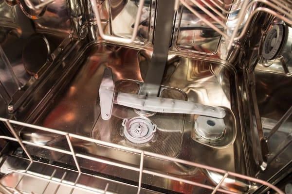 The wash arm of the Smeg retro dishwasher