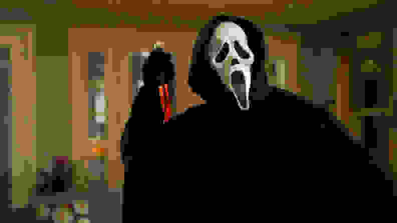 The Ghostface killer from