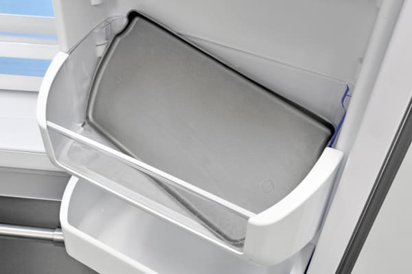 The Frigidaire Professional FPBC2277RF's door shelves come equipped with washable rubber mats to keep food from sliding around.