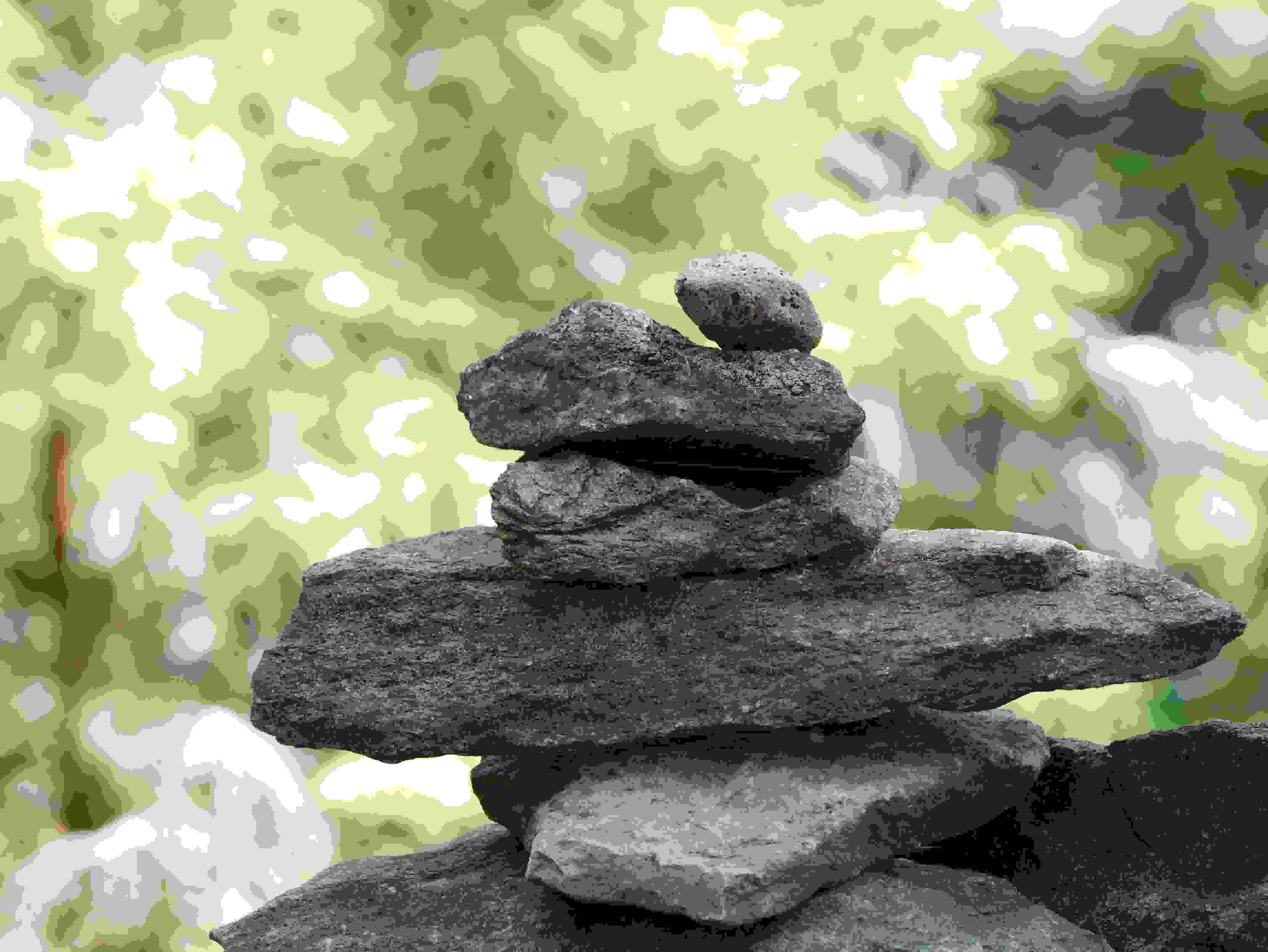 A photo taken by the Panasonic Lumix G7 of rocks.