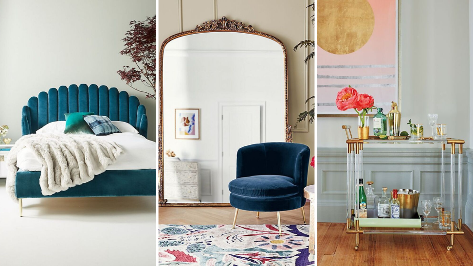 Luxurious furnishings from Anthropologie