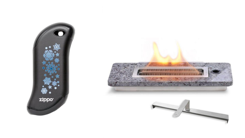 Stay warm safely with Zippo's HeatBank 9s rechargeable hand warmer and LovinFlame's classic tabletop fire pit.