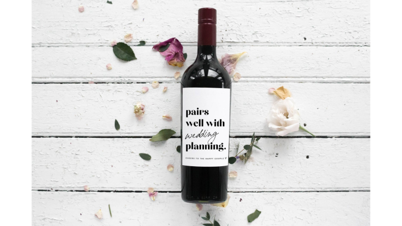 Best engagement gifts: Wine label