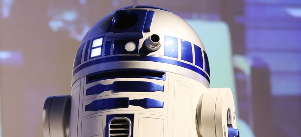 R2-D2 is now a remote-controlled moving refrigerator.