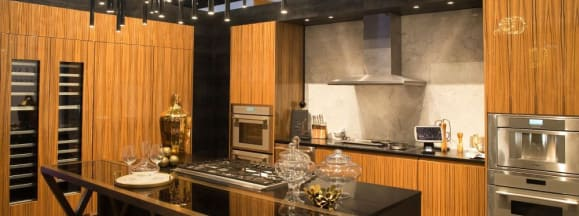 A contemporary thermador kitchen