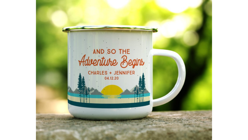 Best engagement gifts: Custom mug