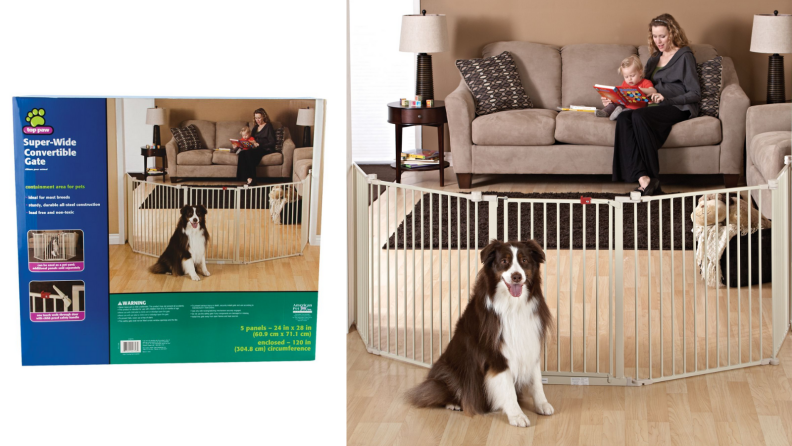 Top Paw Super-Wide Convertible Pet Gate