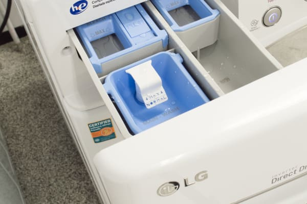 This is the detergent dispenser.