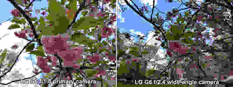 LG G6 Camera Lens Comparison