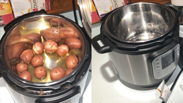 Dirty vs. clean instant pot