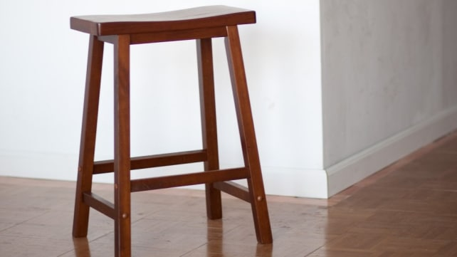 Winsome Saddle Seat 24-Inch Counter Stool