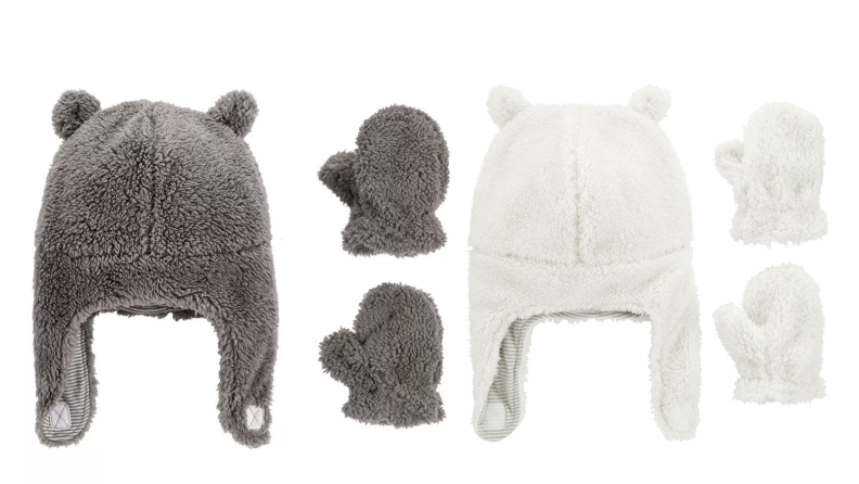 sixteen hats and mittens