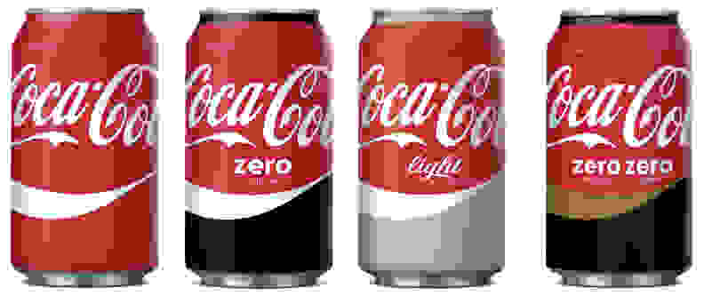 The Split look—currently slated only for Spain—unifies the upper portion of each can to look like Classic Coke while differentiating the bottom section.