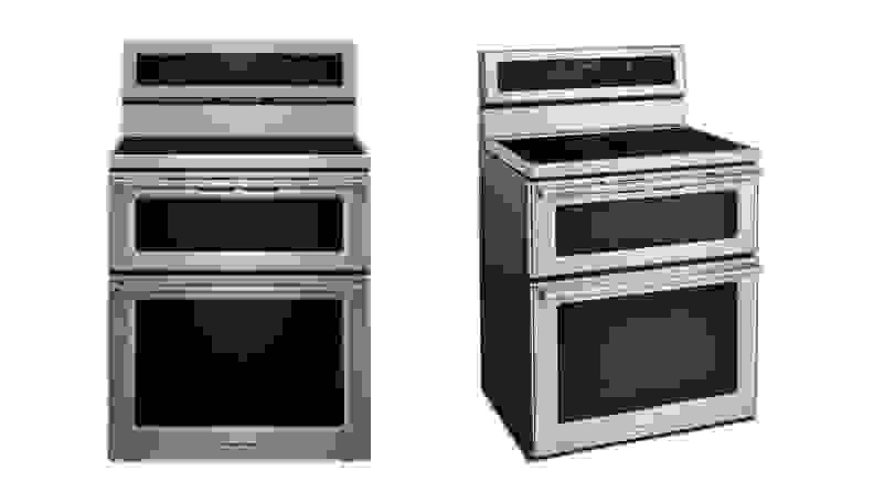 The KitchenAid KFID500ESS induction range.