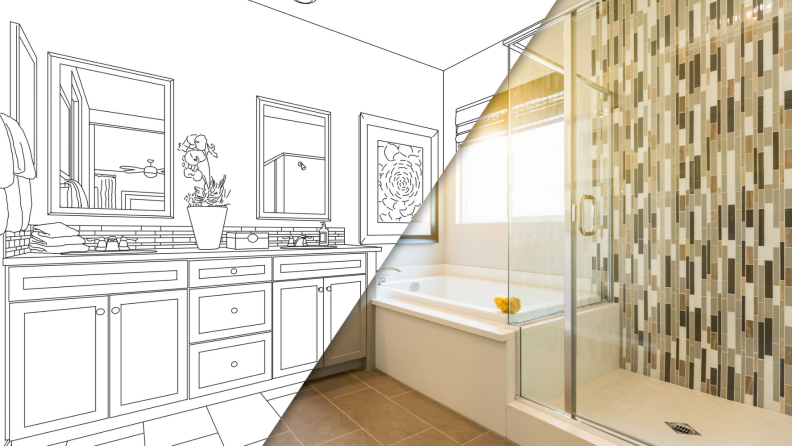 A customized bathroom comes to life from a sketch.