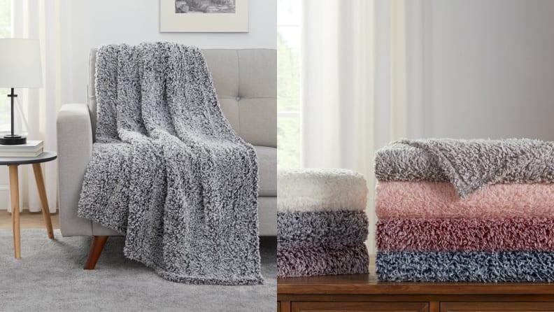 Mainstays Extra Plush Lightweight Sherpa Throw Blanket