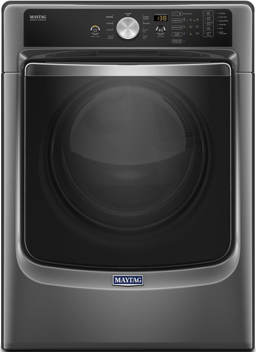 The 5500FC features a metallic slate finish—Maytag's proprietary version of gray.