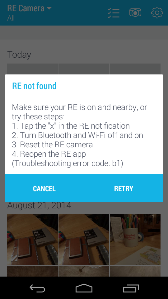 RE not found