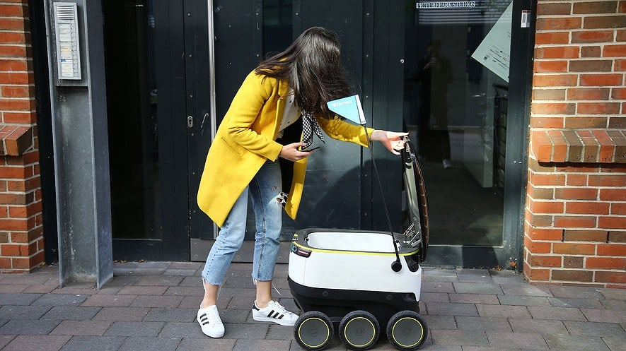 These cute robots will deliver your groceries.
