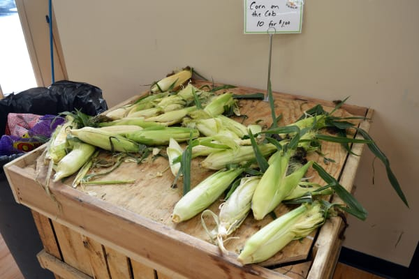 Daily Table is more bound to seasonal growing than regular grocery stores. A few weeks prior to my visit, this corn display was triple its current size.