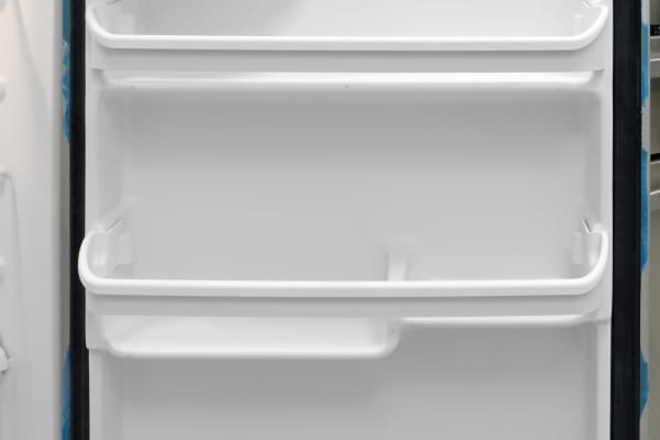 The Frigidaire FFTR1821QS's door shelves aren't customizable, but offer plenty of varying levels for differing items.