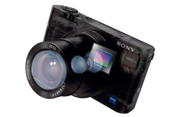 The RX100 III is powered by a Bionz X processor and a 1-inch Exmor CMOS image sensor.