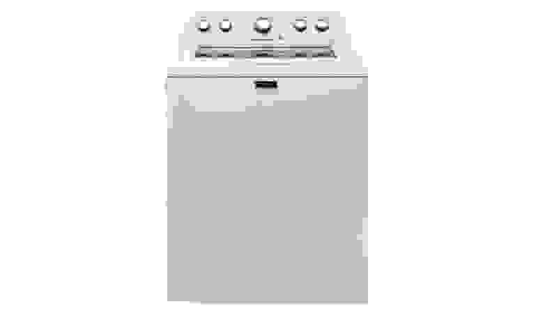 The Maytag MVWX655DW washer on a white background.