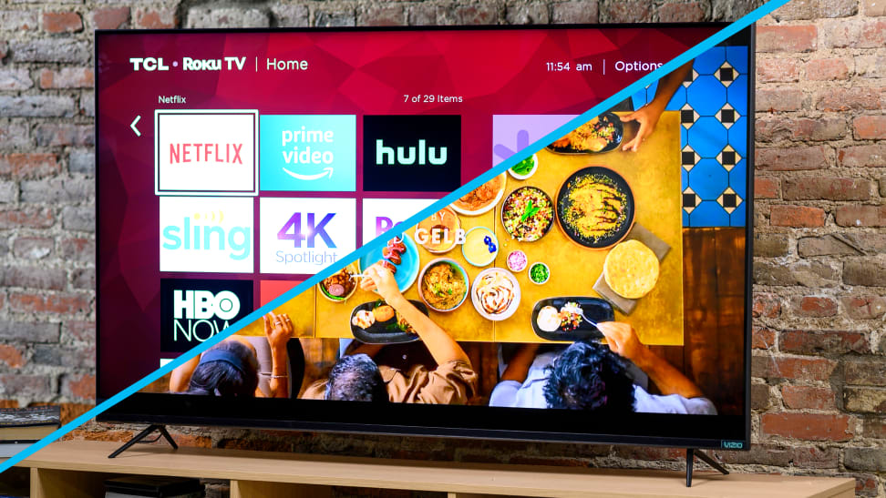 The 2019 TCL 6-Series and Vizio M Series Quantum, side by side