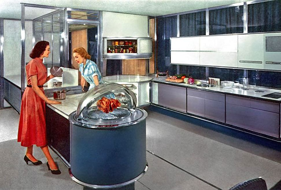 Concept image of a 1950's kitchen