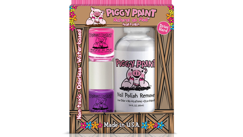 Piggy Paint nail polish and remover.