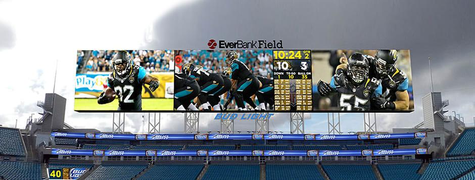 The Jacksonville Jaguars' new jumbo LED screens