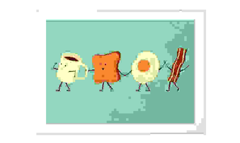 Let's All Go and Have Breakfast print