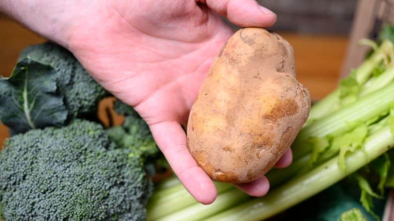 oddly-shaped potato