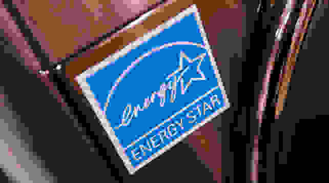 Energy Star sticker on an appliance