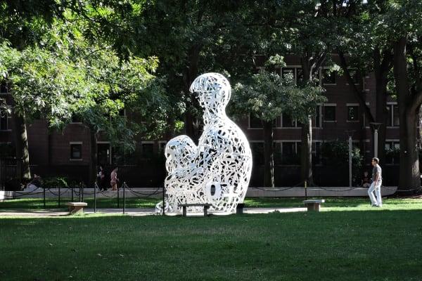 A sample photo of a math sculpture taken by the Nikon Coolpix P340.