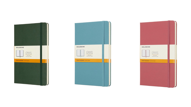 Journals in different colors.