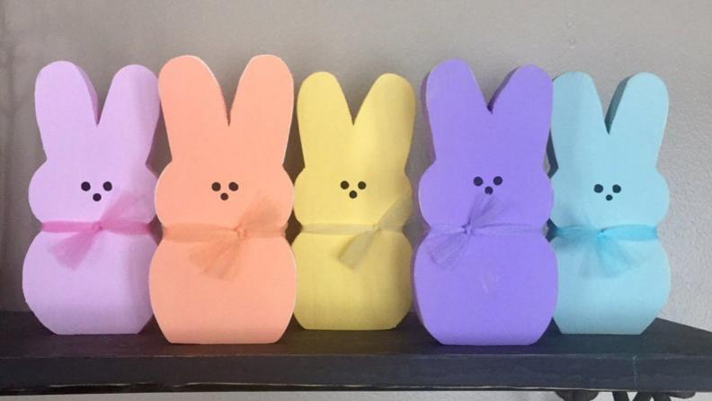 Wood bunnies