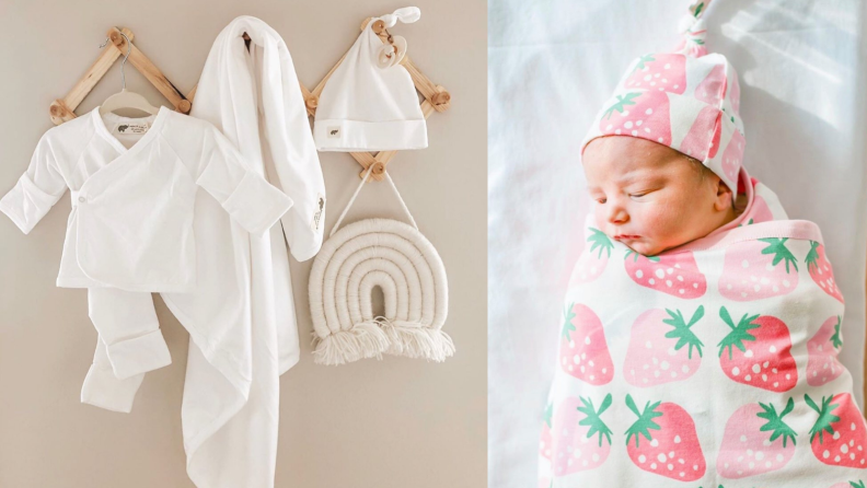 Baby and clothes.