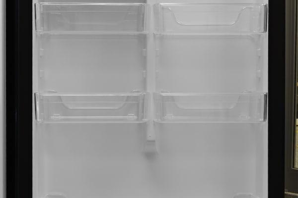 Refrigerator door storage